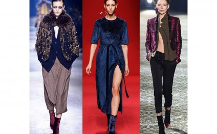 Paris fashion week velvet