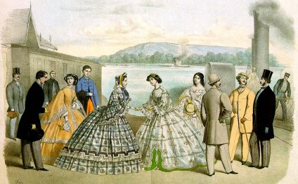 The crinoline was a hoop skirt