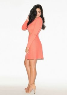 ariel cold temperatures new 2015 coral gown