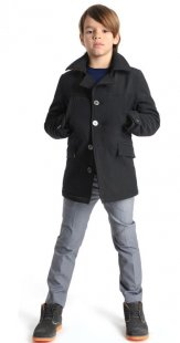 Fall style for children: Pea coat style mid-length coats