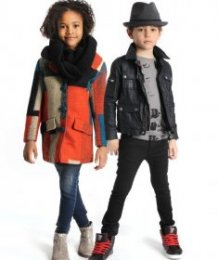 Fall style styles for young ones: Earthy neutrals get more fun with pops of bright lime or purple