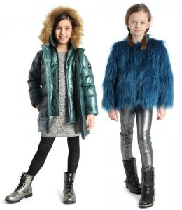 Fall/winter coats for girls from appaman: Love all playful faux fur combined with metallics!