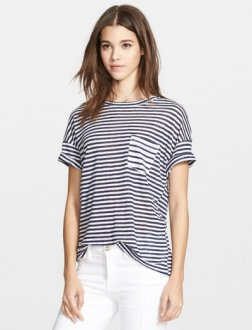 frame denim striped navy white t-shirt