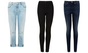 space Light distressed gf jeans; Topshop's Joni jeans and space real thin jeans