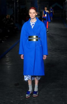 London Fashion Week styles: royal blue and oxblood red