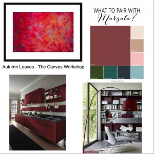 marsala autumn actually leaves the canvas workshop print
