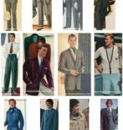 Mens clothes Styles Examples Through The Decades