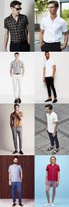 Men's Cuban Collar Shirt Outfit motivation Lookbook