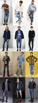 Men's Distressed and Patchwork Jeans Outfit Inspiration Lookbook