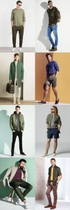 Men's Spring/Summer 2016 Green clothes Outfit Inspiration Lookbook