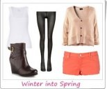 Outfit transition from Winter to Spring