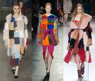 patchwork fur trend fall 2014 10 available styles Through the Fall 2014 Runways