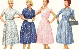 Fashion trends in the 1950s