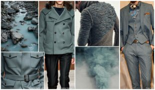 Top colors, Menswear Market, F/W 2015-16, SMOKE GREEN (Frosted Neutrals)