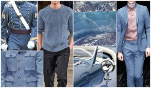 Top Color,  Menswear Market,  F/W 2015-16,  CADET BLUE (Regal Shades)