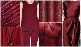 Top colors, Womens Market, S/S 2016, Burgundy