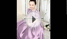 2012 Spring Brand new Lilac long Flower Girl Dresses. 132