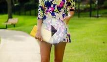 Latest fashion trends: Street style | Floral romper and