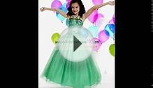 New Green long Flower Girl Dress 2012 Spring. 142