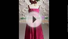 Pretty Burgundy long Flower Girl Dress 2012 Spring. 139