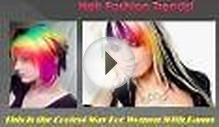 Rainbow Bangs Are Latest Hair Fashion Trends!