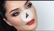 Spring Makeup Look Orange Lips 2014