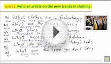 WRITING B2 - U11 - Write an article on the new trends in