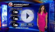 WSVN Weather Vivian Gonzalez nice pink dress